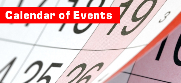 Calendar of Events slide