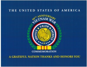 50th anniversary commemoration Vietnam War Poster