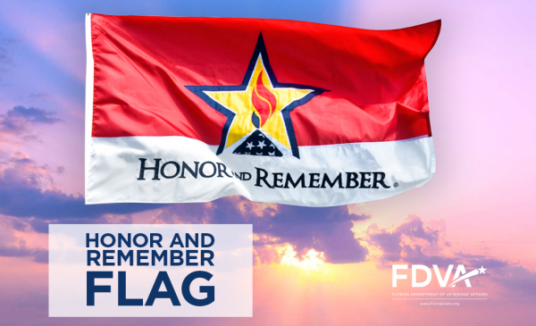 Honor and remember flag poster