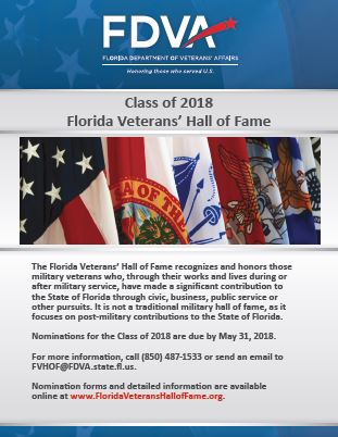 florida veterans hall of fame poster
