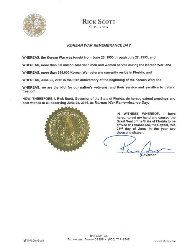 2016 Korean War Remembrance Day Proclamation-1