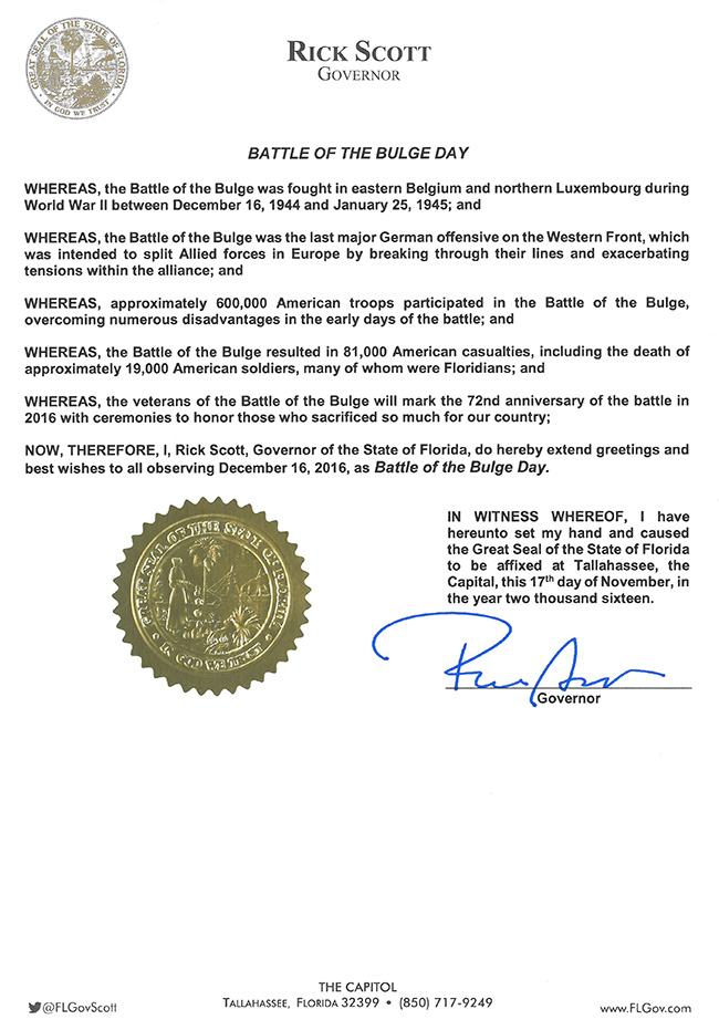 2016 battle of the bulge day proclamation