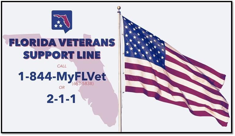florida veterans support line
