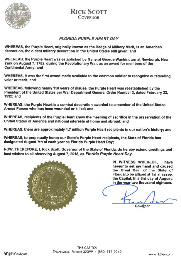 purple heart day proclamation 2018