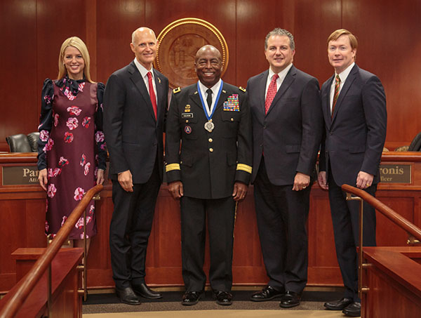 Maj. Gen. Michael A. Calhoun receives Cabinet Medal of Merit