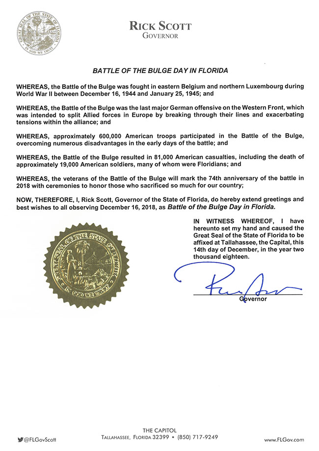 Battle of the Bulge Day proclamation