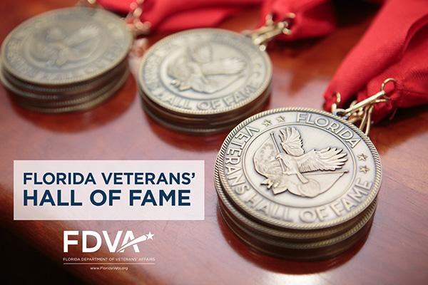 Florida Veterans Hall of Fame, medals