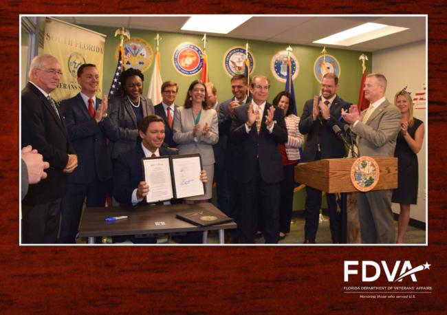 Governor DeSantis at bill signing ceremony