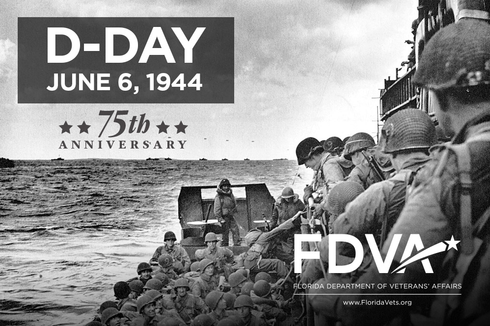 D-Day, June 6, 1944, 75th Anniversary. Soldiers in landing craft.